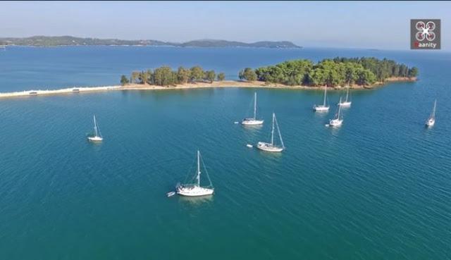 Το ελληνικό νησάκι που... πας με τα πόδια!!! (βίντεο drone)