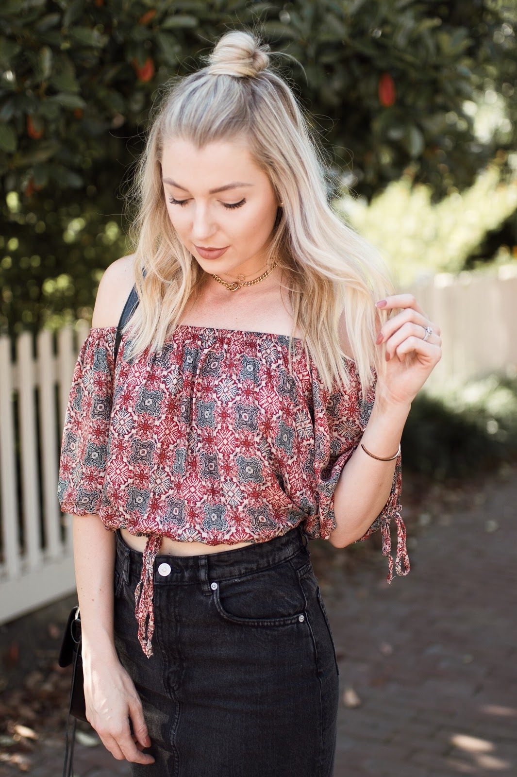 Free People off-the-shoulder top (on sale!)