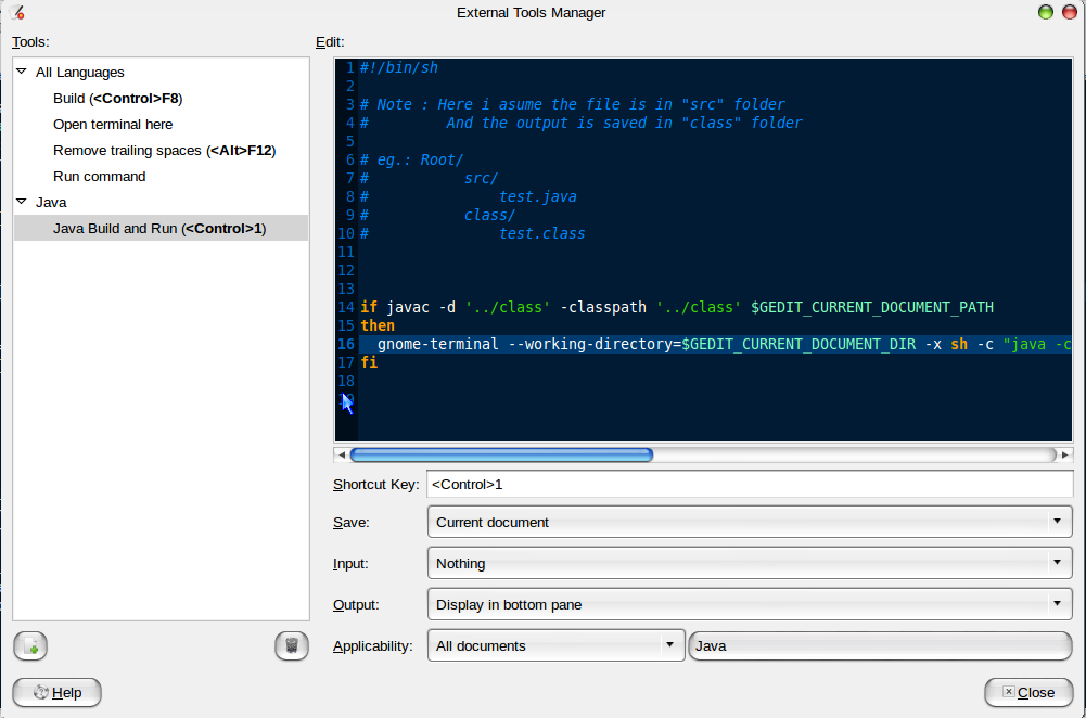 Ubuntu My Pet: How to Configure Gedit to be IDE for JAVA Programs