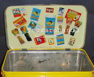 scatola cestino in latta vintage
