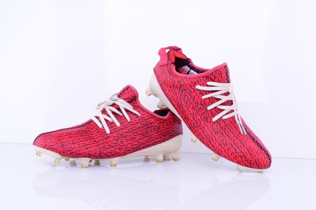 Custom Red Adidas Yeezy Football Boots Unveiled Footy