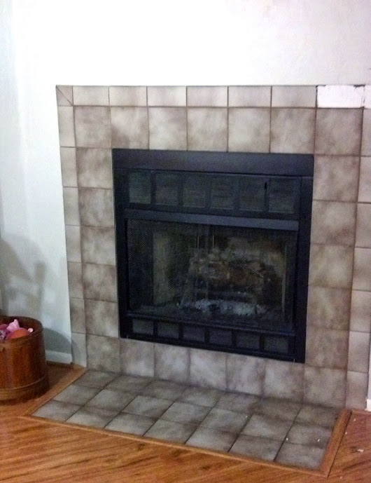 Salvaged Spaces: Before and After: Fireplace DIY