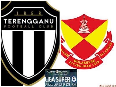 Live Streaming Terengganu FC vs Selangor Liga Super 10 Februari 2018