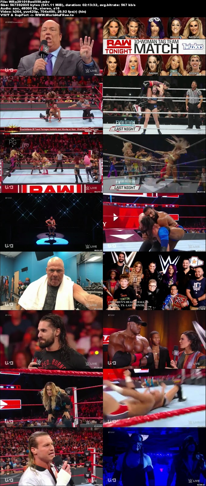 WWE Monday Night RAW 29 OCTOBER 2018 HDTV 480p 550MB x264 world4ufree.vip tv show wwe monday night raw wwe show monday night raw compressed small size free download or watch onlne at world4ufree.vip