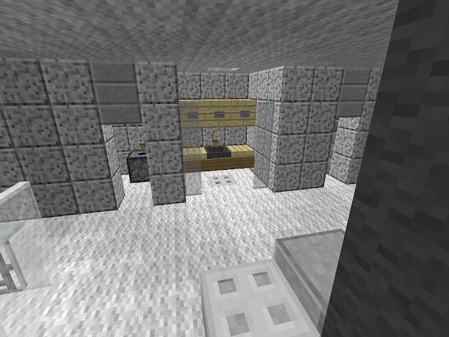 Sanitair, gebouwd in een Minecraft kantoorgebouw