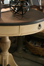 Reloved Rubbish Leather Topped Table Chalk Paint Makeover