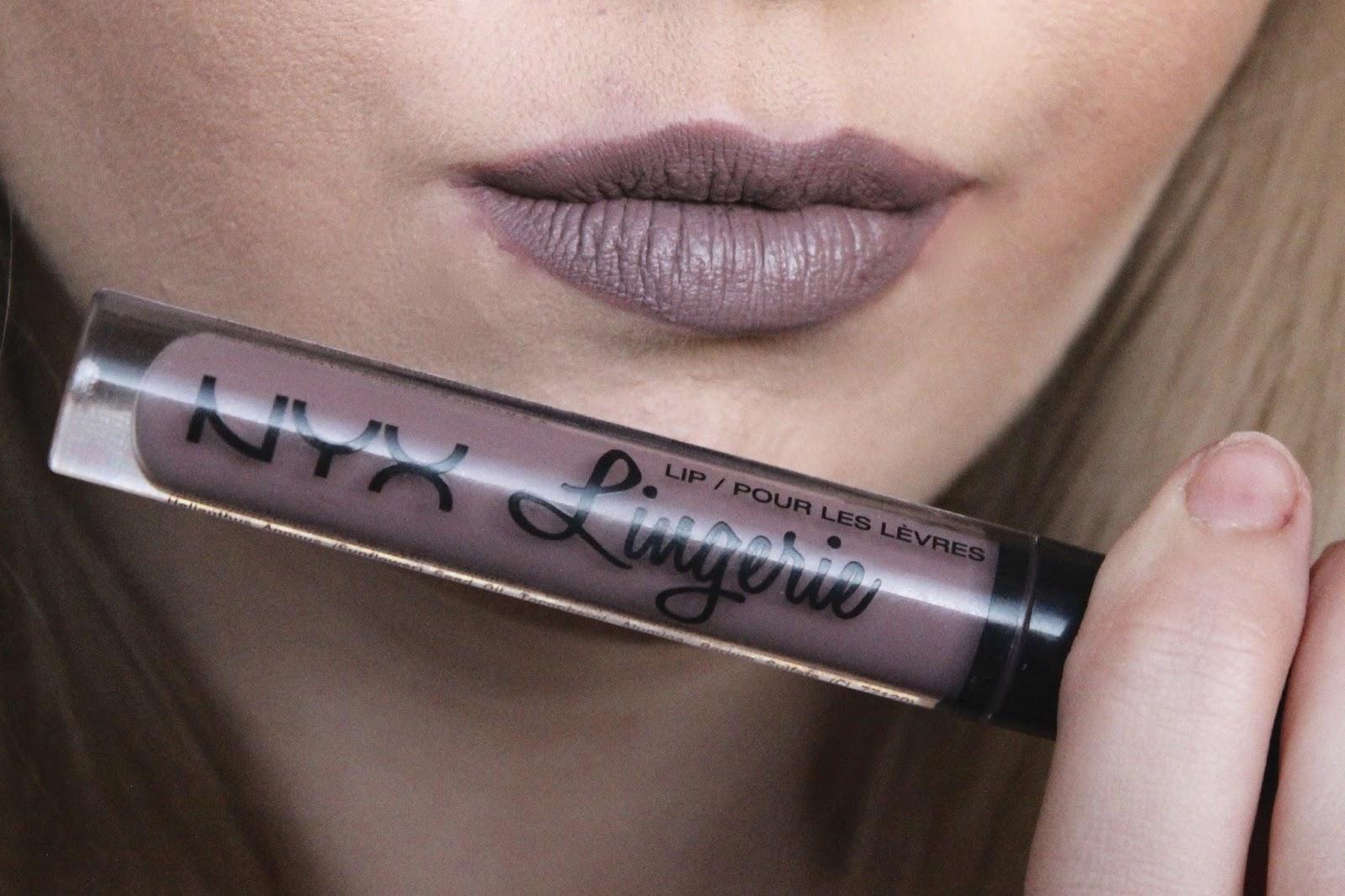 NYX lip lingerie in embellishment  purple lipstick loved by sarah blog