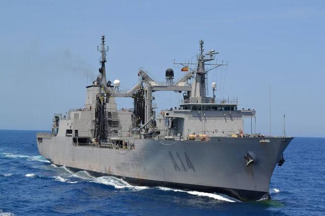 El buque A-14 'Patiño' zarpa rumbo a Halifax, desplegará 2 meses junto a la marina canadiense