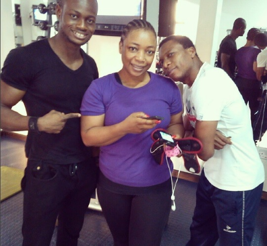 Photos: Meet Bimbo Akintola's Personal Trainer, Fitness Instructor Emodi Obinna