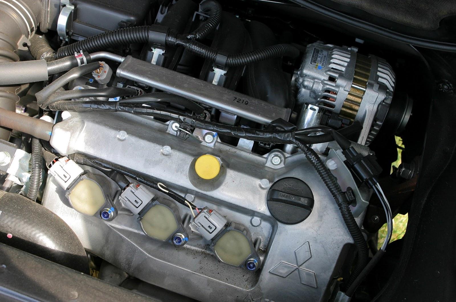 Mitsubishi I engine bay