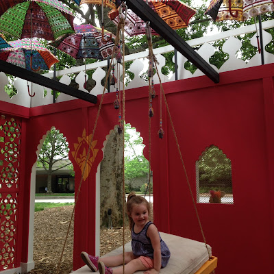 Cheekwood Botanical Gardens - Monsoon Pavilion swing up close