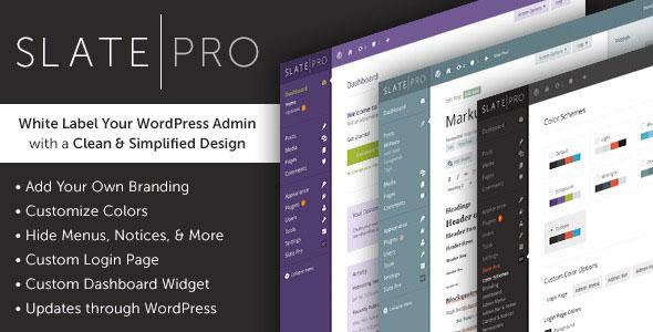 Slate Pro - A White Label WordPress Admin Theme Free | WP