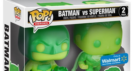 Walmart Exclusive! Funko Pop! Heroes Glow in the Dark Batman vs Superman Box Set
