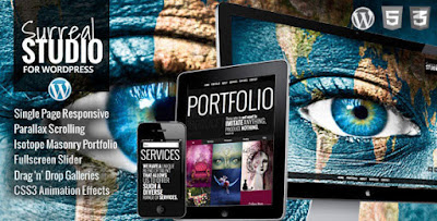 Download Surreal v1.3.3 One Page Parallax WordPress Theme