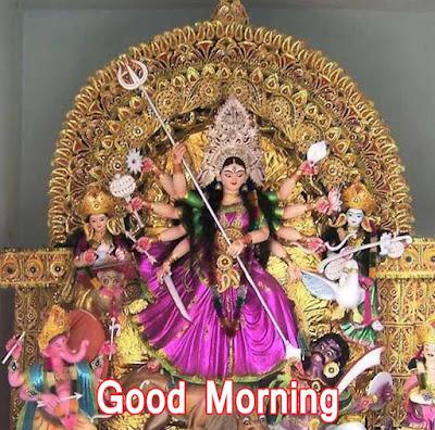 Good Morning Images With Durga Mata