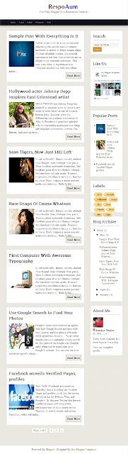 RespoAum Blogger Responsive Templates