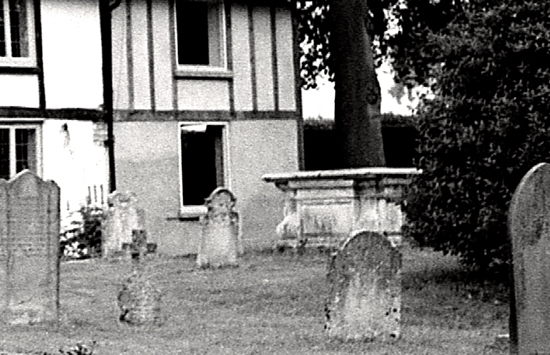 Photograph of the chest tomb, free of ivy - taken in the 1960s Image by Ron Kingdon, part of the Images of North Mymms Collection