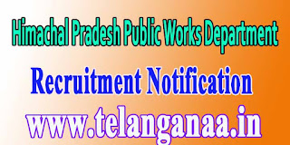 HPPWD Himachal Pradesh Public Works Department Recruitment Notification 2016