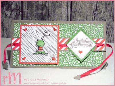 Stampin' Up! rosa Mädchen Kulmbach: Stamp Impressions Blog Hop: Happy Birthday Ziehkarte mit Love you lots, Grußelemente, Framelits Stickmuster und Designerpapier