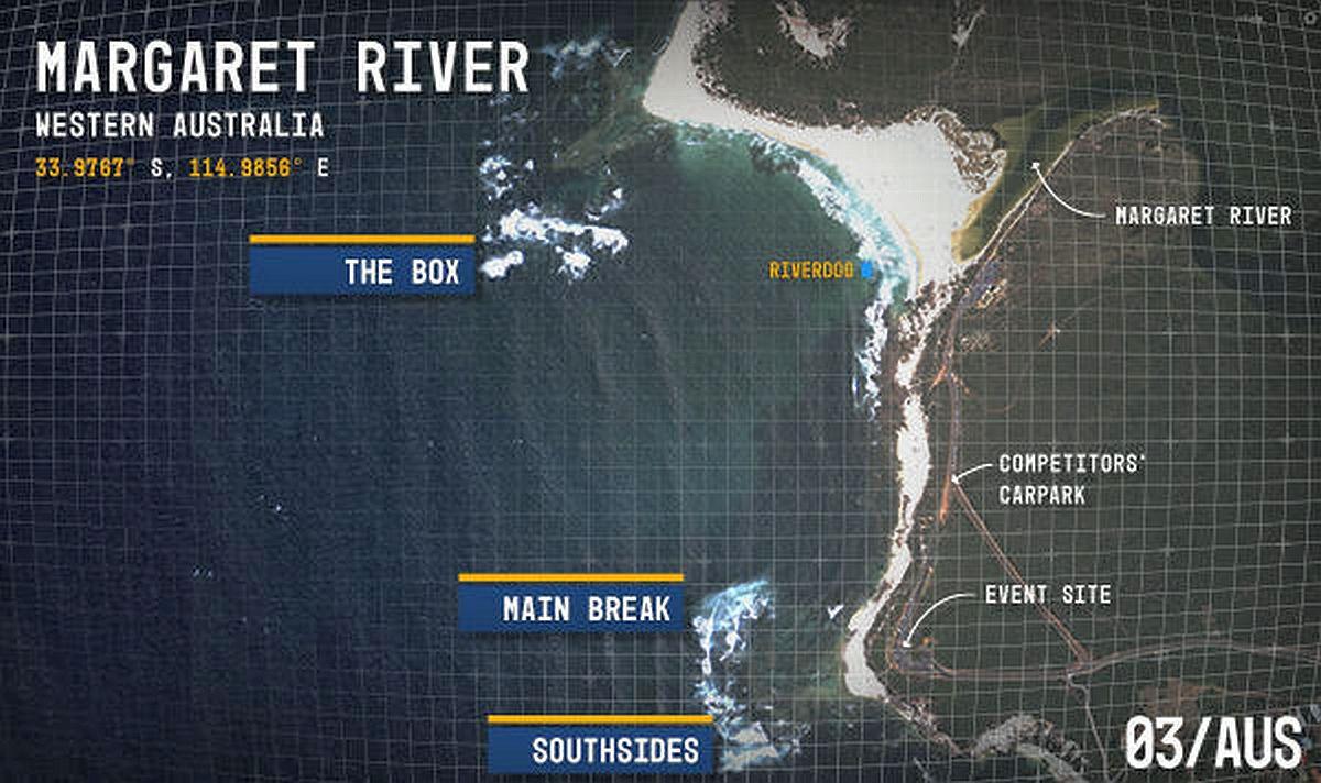 mapa margaret river