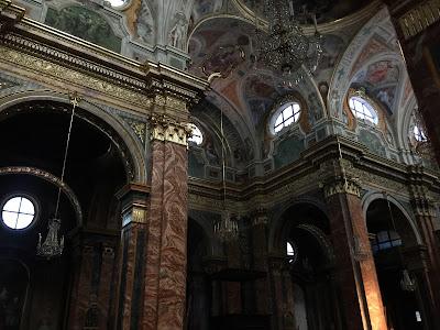 Inside San Donato in Mondoví Alta.