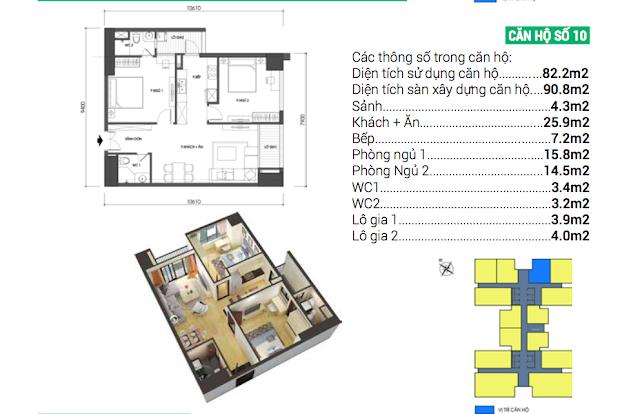 Thiết kế căn hộ 10 chung cư Housinco Grand Tower