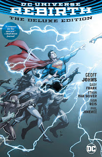 Review DC Universe Rebirth The Deluxe Edition Geoff Johns Gary Frank Ethan Van Sciver Ivan Reis Phil Jimenez Superman Batman Wonder Woman Flash Barry Allen Green Lantern Dr. Manhattan Watchmen DC Comics hardcover comic book