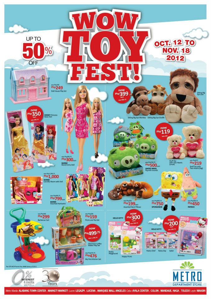 Metro Stores Philippines Wow Toy Fest 2012 Pamurahan