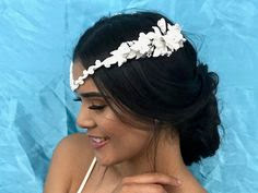 wedding ideas - wedding planning services - bridal headpieces - vintage white floral headpieces - pinterest - Wedding blog by K'Mich - day of wedding planners in Philadelphia