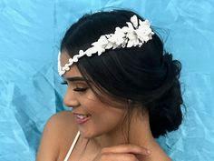 K'Mich Weddings - wedding planning - bridal headpieces - vintage white floral headpieces - pinterest