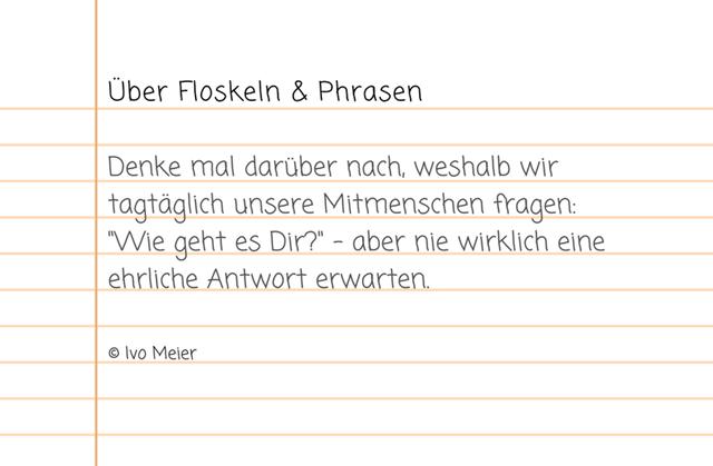 Floskeln & Phrasen
