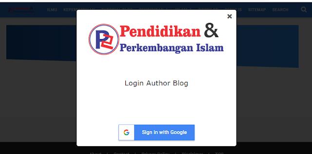 Cara Membuat Tombol Login Blog Di Situs Sendiri Tanpa Menuju www.blogger.com pada Blog Non AMP dan AMP