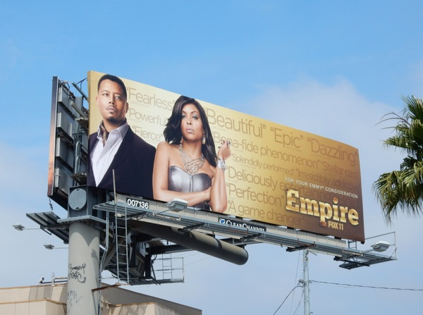 Empire season 1 Emmy 2015 billboard