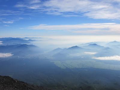 Vistas desde el monte Fuji, Japón