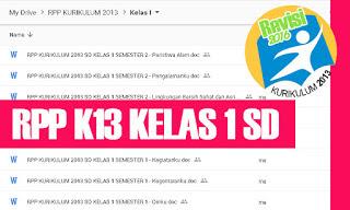 RPP K13 SD Kelas 1 Tema 6 Subtema 1 2 3 4