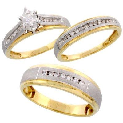 3 Piece Wedding Ring Sets Cheap