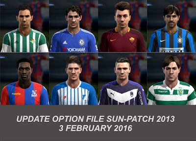 PES 2013 Update Option File SUN-Patch 5.0 #03/02/2016 by Official