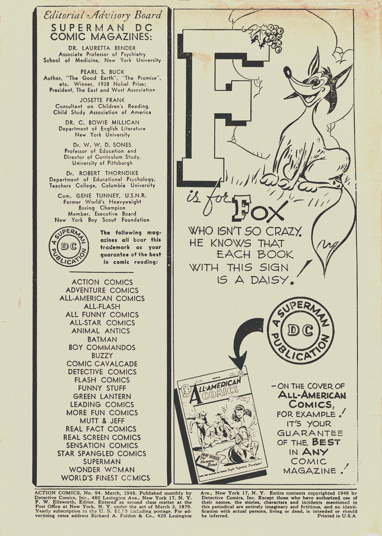 Action Comics (1938) 94 Page 1