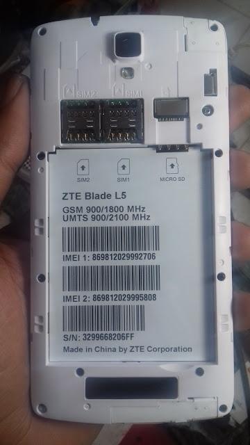 ZTE BLADE L5 MT6572 FLASH FILE 5 1 LOLLIPOP 100% TESTED