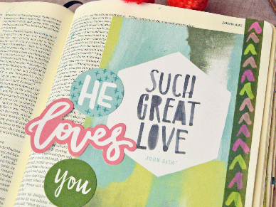 Bible Journaling 101: Using Tip Ins in Journaling