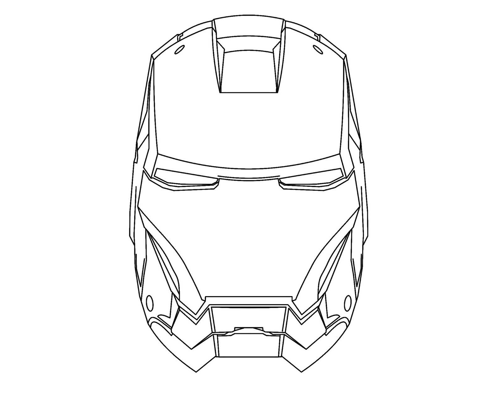Free coloring pages of how to draw iron man mask