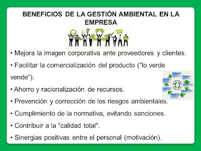 beneficios del sistema de gestion ambiental en la empresa