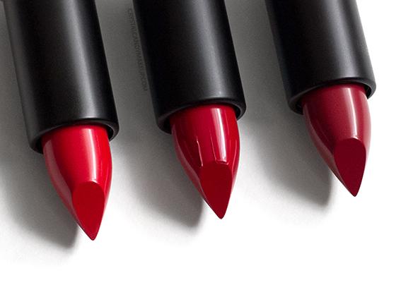 MUFE Artist Rouge Creme Lipsticks Review C403 C404 C405