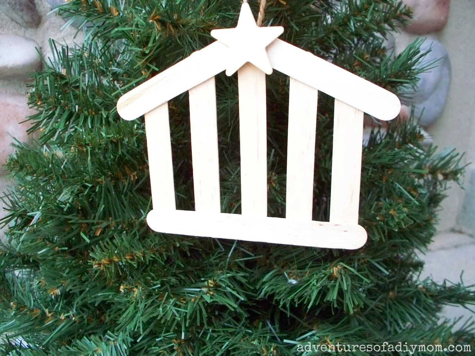 How to Make a Nativity Stable Ornament - Adventures of a ...