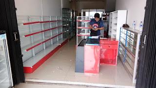 Pemasangan Rak Minimarket Toko ACC Ramayana Serang