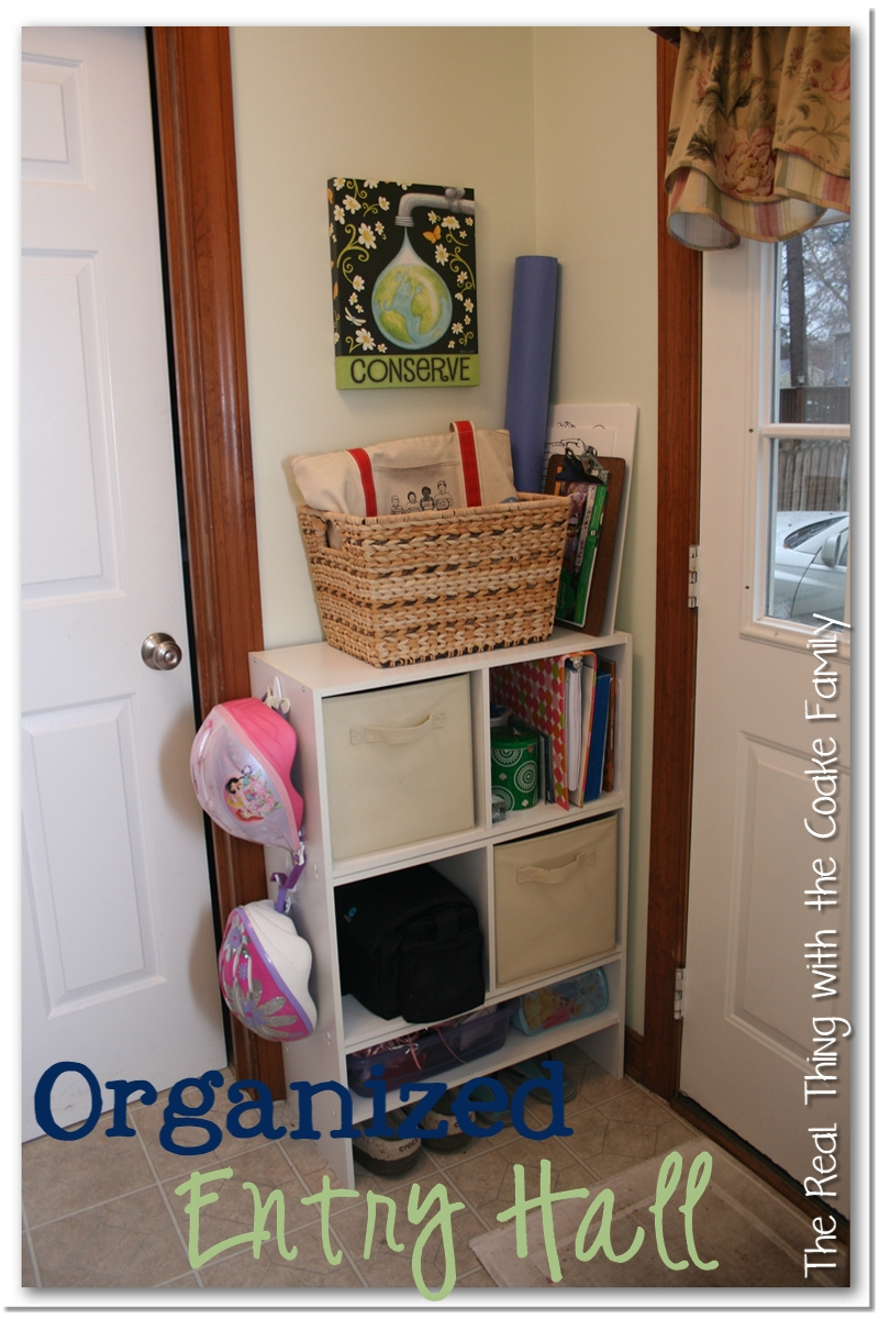 Storage ideas and organizing ideas for an entry way or other small space  with high traffic