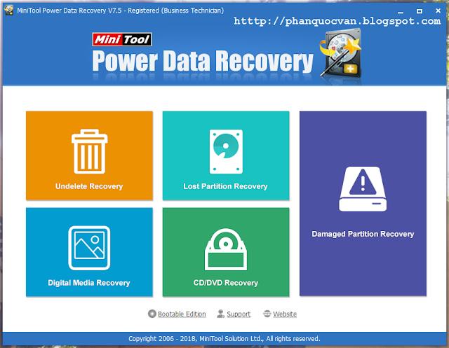 MiniTool Power Data Recovery v7.5