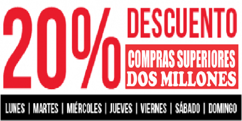 20 % descuento