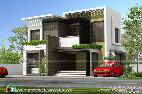 1850 sq-ft 4 BHK modern box model house design