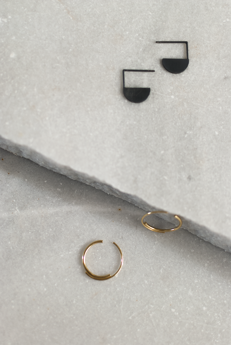 Minimalistic earrings by AgJc on Etsy